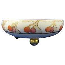 T&V Limoges Cherry Design Footed Bowl (c.1906-1920) - Keramic Studio Design