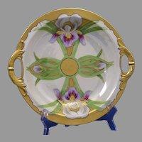 """Haviland Limoges Iris & Lustre Design Bowl (Signed """"Ursch""""/c.1910-1930)"""
