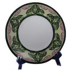 """PL Limoges """"Sagittaria Design"""" Plate (Signed """"H.E.""""/c.1905-1930) - Keramic Studio Design"""