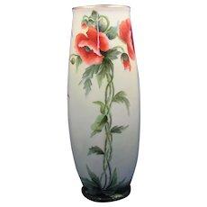 PH Leonard Austria Poppy Design Vase (c.1900-1930)