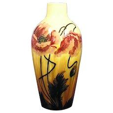 Austrian Majolica Glaze Poppy Design Vase (c.1890-1920)