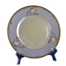 "B&Co. Limoges ""Crab Apple"" Design Plate (Signed ""M. Dunning""/c.1914-1930) - Keramic Studio Design"