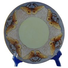 """Carstens Weimar Germany Butterfly Design Plate (Signed """"G. Roberts""""/c.1918-1945) - Keramic Studio Design"""