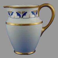 "Lenox Belleek (American) Art Deco Design Pitcher (Signed ""E.H.G.""/c.1906-1924)"