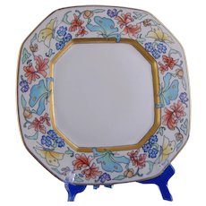 """B&Co. Limoges Floral & Butterfly Motif Plate (Signed """"V. vanH.""""/Dated 1928)"""