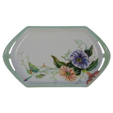 MZ Austria Morning Glories Design Tray/Pin Dish (Signed/Dated 1914)