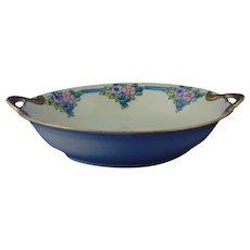 """Porcelain Blank Floral Design Bowl (Signed """"G.I.S.""""/Dated 1930)"""
