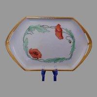 Moritz Zdekauer (MZ) Austria Poppy Design Serving Tray (c.1910-1930)
