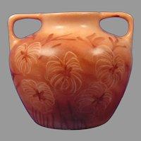 """Vignaud Limoges Floral/Leaf Design Vase (Signed """"A. Onslow""""/c.1938-1945)"""