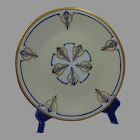 "Hutschenreuther Selb Bavaria & RS Prussia Plates (Signed ""M.G.F.""/Dated 1933) - Keramic Studio Design"