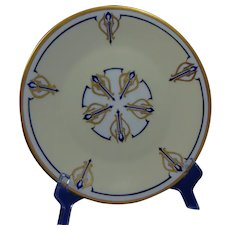 """Hutschenreuther Selb Bavaria & RS Prussia Plates (Signed """"M.G.F.""""/Dated 1933) - Keramic Studio Design"""
