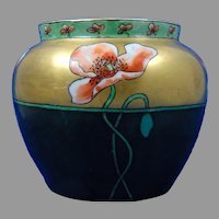 "Hutschenreuther Uno Favorite Bavaria Poppy Design Vase (Signed ""Highure""/c.1910-1930)"