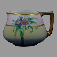"""B&Co. Limoges Floral Design Cider/Lemonade Pitcher (Signed """"L. Ardrey""""/c.1910-1930)"""
