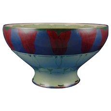 Lenox Belleek (American) Art Deco Tulip Design Centerpiece Bowl (Signed/c.1906-1924)