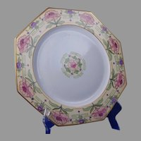 "Czecho-Slovakia Floral Design Charger/Plate (Signed ""A. Rayton""/Dated 1926) - Keramic Studio Design"