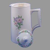 Lenox Belleek (American) Enameled Floral Design Syrup Pitcher (c.1906-1924)