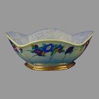 """Porcelain Blank Floral Design Centerpiece Bowl (Signed """"Alpha Walker Witt""""/Dated 1939)"""