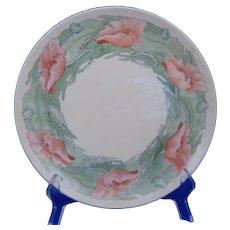 """Haviland Limoges Poppy Design Plate (Signed """"HMG""""/c.1910-1930's)"""