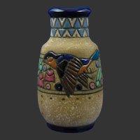 Amphora Austria Campina Sparrow Design Vase (c.1905-1910)