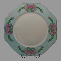 "Krautheim Bavaria ""Wild Hollyhock"" Design Charger/Plate (Signed/Dated 1930) - Keramic Studio Design"