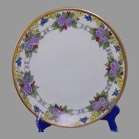 "Thomas Bavaria Floral Design Plate (Signed ""E.B.R.""/c.1909-1930's) - Keramic Studio Design"