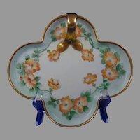 """ES Germany Floral Design Serving Tray (Signed """"J.C. Carey""""/c.1902-1938)"""