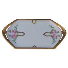 Moritz Zdekauer (MZ) Austria Rose Design Trinket Tray/Pin Dish (c.1910-1930)