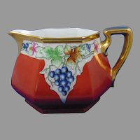 B&Co. Limoges Grape Design Pitcher (Signed/Dated 1932)