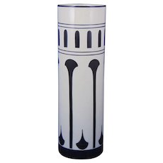 "Lenox Belleek (American) Art Deco Black & White Vase (Signed ""Chierl""/c.1906-1924)"