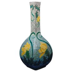 """Royal Bonn Germany """"Ruysdael"""" Arts & Crafts Floral Design Vase (c.1890-1923)"""