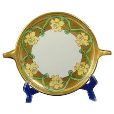 Rosenthal Donatello Selb Bavaria Arts & Crafts Daffodil Motif Handled Serving Plate/Dish (c.1907-1930)