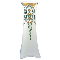 """Heinrich & Co. (H&Co.) Selb Bavaria Wisteria/""""Wistaria"""" Design Vase (Signed/c.1915-1930) - Keramic Studio Design"""