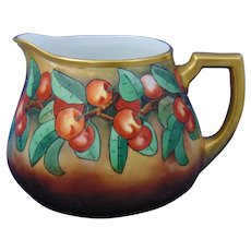 Zeh, Scherzer & Co. (ZS&Co.) Bavaria Arts & Crafts Cherry Motif Cider/Lemonade Pitcher (c.1900-1930)