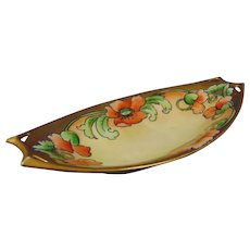 "Hutschenreuther Bavaria Poppy Design Dish/Tray (Signed ""M. Perl""/c.1910-1930)"