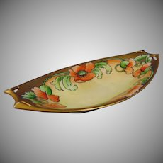 "Hutschenreuther Bavaria Poppy Design Dish/Tray (Signed ""M. Perl""/c.1910-1930)"
