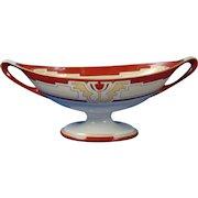 "Lenox Belleek Arts & Crafts Handled Dish/Compote (Signed ""C.J. Bowman""/Dated 1918)"