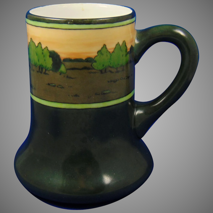 Limoges Arts And Crafts Hand Painted Cups