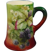 Ceramic Art Company (CAC)/Lenox Belleek Blackberry Design Tankard (c.1889-1906)
