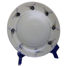 """Hutschenreuther Selb Bavaria Arts & Crafts Bee Motif Plate (Signed """"Dawkins""""/Dated 1912)"""