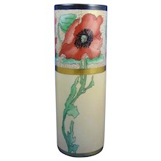 "B&Co. Limoges Poppy Motif Vase (Signed ""M.H.T.""/c.1914-1930)"