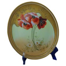 Thomas Bavaria Poppy & Daisy Design Charger/Plate (c.1910-1930)