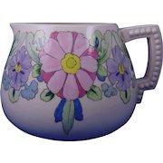 """Lenox Belleek Arts & Crafts Enameled Floral Motif Cider/Lemonade Pitcher (Signed """"E.L.F.""""/Dated 1921)"""