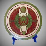 "Haviland Limoges Egyptian Revival Scarab/""Scarabeus"" Design Plate (c.1902-1930) - Keramic Studio Design"