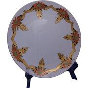 Tressemann & Vogt (T&V) Limoges Arts & Crafts Poinsettia Design Charger/Plate (c.1892-1930)