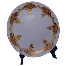 Tressemann & Vogt (T&V) Limoges Arts & Crafts Poinsettia Design Charger/Plate (c.1892-1930)