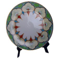 "P&P Limoges Peacock Feather Motif Charger/Plate (Signed ""A.R.O. to S.A.P""/Dated 1912)"