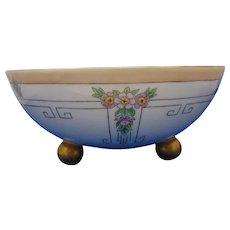 Beyer & Bock Royal Rudolstadt Prussia Arts & Crafts Floral Motif Footed Bowl (c.1909-1931) - Keramic Studio Design