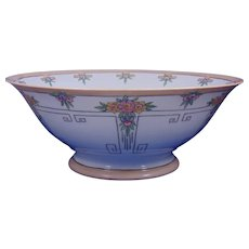 Favorite Bavaria Arts & Crafts Floral Motif Centerpiece Bowl (c.1910-1930) - Keramic Studio Design