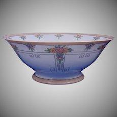 Favorite Bavaria Arts & Crafts Floral Motif Centerpiece Bowl (c.1910-1930) - Keramic Studio Design