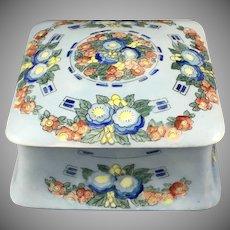 Hutschenreuther Uno Favorite Bavaria Floral Design Covered Box (c.1909-1930) - Keramic Studio Design